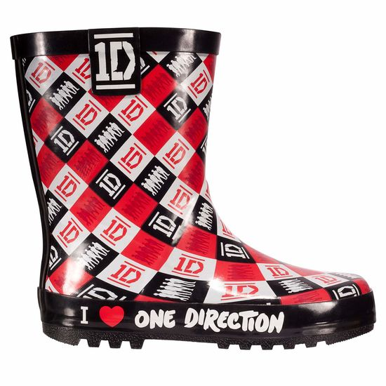 One Direction: 1D Girls Check Welly - Size 10