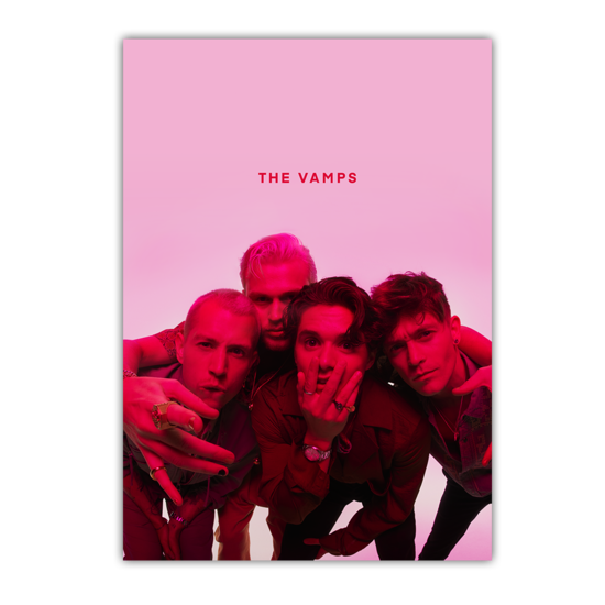 The Vamps: Pink Photo A2 Litho
