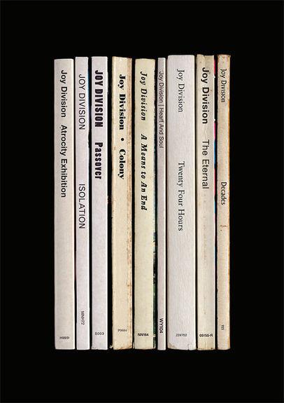 Joy Division: 'Closer' Album As Books Art Print