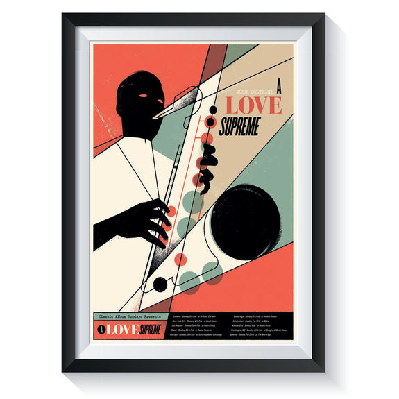 John Coltrane: A Love Supreme: Classic Album Sundays Screen Print