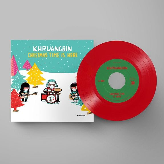 Khruangbin: Christmas Time Is Here: Limited Edition Red Vinyl w/ Socially Distanced Artwork