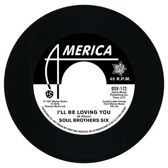 Soul Bros. Six: I'll Be Loving You / Walkin' Up A One Way Street