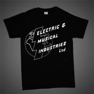 Electrospective: Electric And Musical Industries Logo (Original EMI Logo) Black T-Shirt
