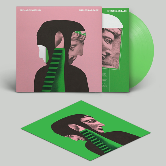 Teenage Fanclub: Endless Arcade: Limited Edition Green Vinyl LP in Die-Cut Sleeve + Signed Print