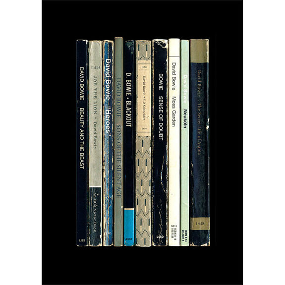 David Bowie: 'Heroes' Albums As Books Art Print