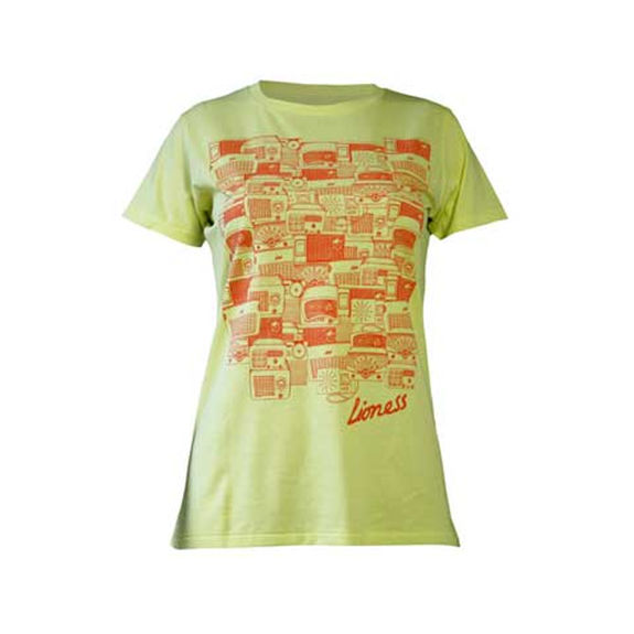 Amy Winehouse: Lioness Antique Radios Yellow Ladies Skinny Fit T-Shirt