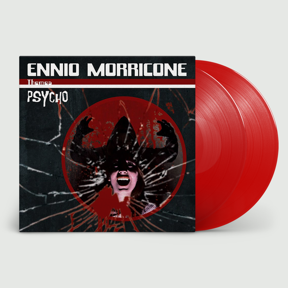 Ennio Morricone: Psycho: Limited Edition Translucent Red Double Vinyl in Deluxe Gatefold Sleeve