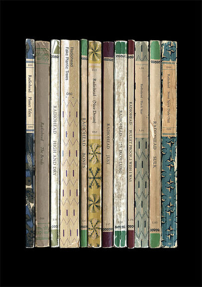 Radiohead: 'The Bends' Album As Books Art Print