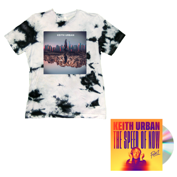 Keith Urban: SKYLINE Tie Dye T-shirt + THE SPEED OF NOW Part 1 CD + Digital Album