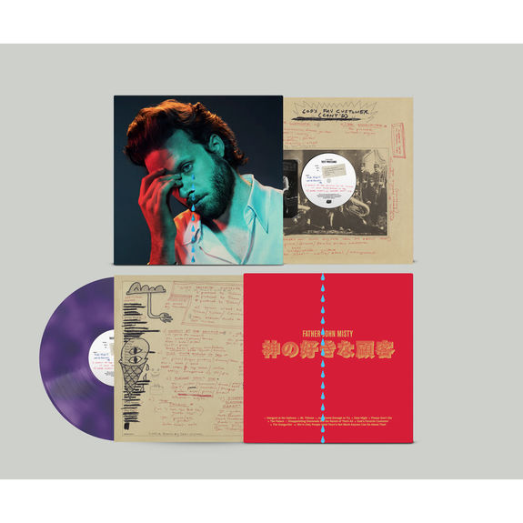 Father John Misty: God's Favorite Customer: Purple Vinyl + Foil Tears Sleeve Limited edition