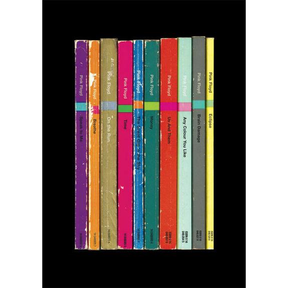 Pink Floyd: 'The Dark Side of the Moon' Album As Books Art Print