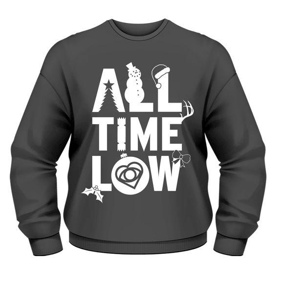 All Time Low: Christmas Logo Small Sweatshirt