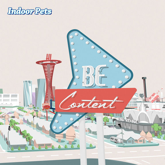 Indoor Pets: Be Content: Limited White Vinyl