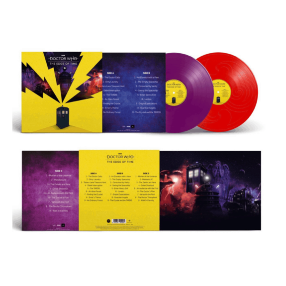 Doctor Who: Doctor Who: The Edge Of Time Original Videogame Soundtrack: Limited Edition 140g Red and Purple Vinyl