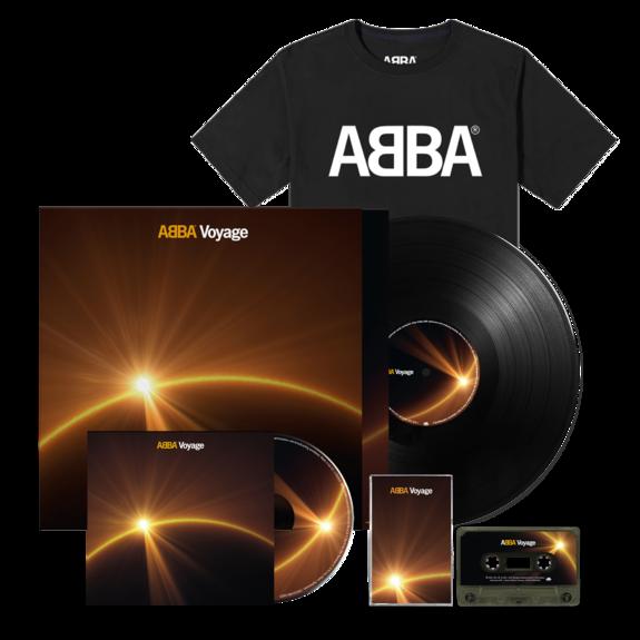 Abba: Voyage (CD, Vinyl, Cassette & Logo Tee Bundle)
