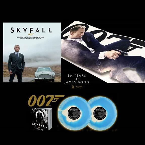 Thomas Newman: Skyfall Original Soundtrack: Blue + White Vinyl w/ 3D Gatefold
