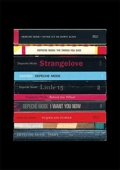 Depeche Mode: 'Music for the Masses' Art Print Albums As Books