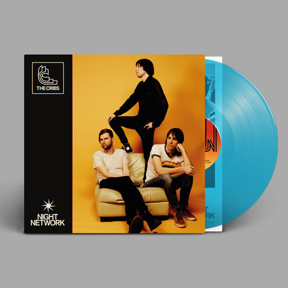 The Cribs: Night Network: Swimming Pool Blue Vinyl + Signed Print