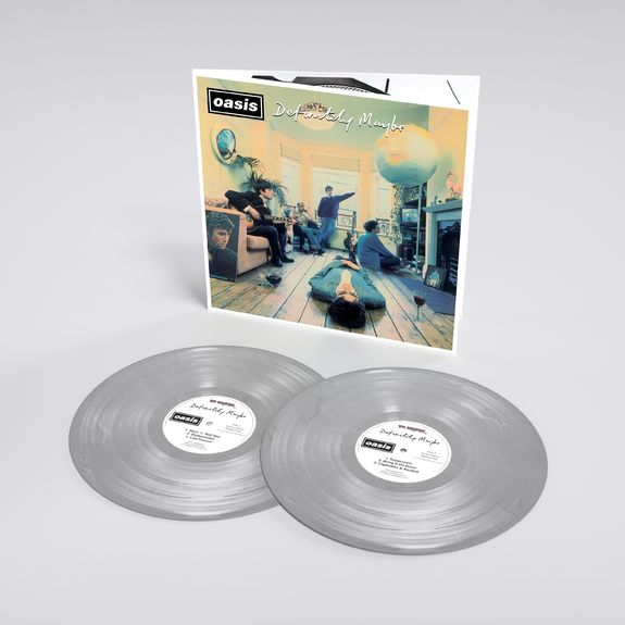 Oasis: Definitely Maybe: 25th Anniversary Edition Silver Vinyl