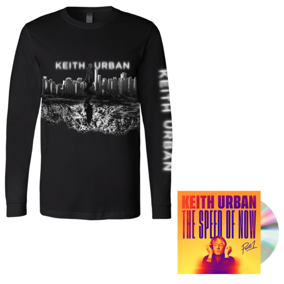 Keith Urban: SKYLINE Long Sleeve + THE SPEED OF NOW Part 1 CD + Digital Album