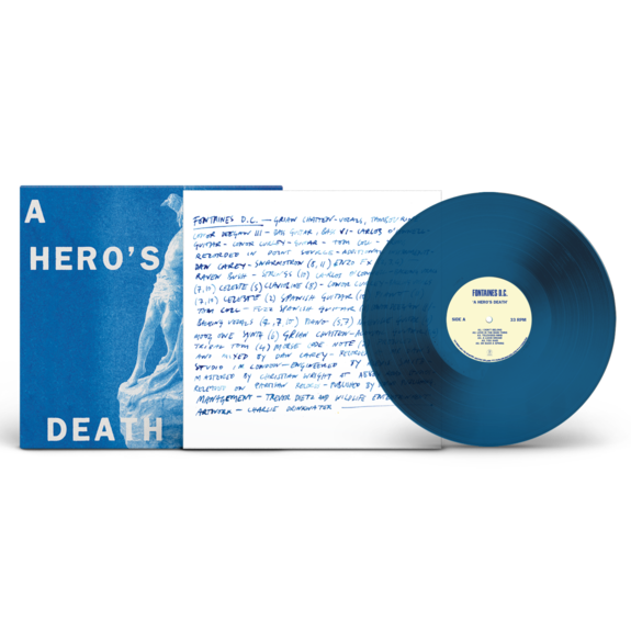 FONTAINES D.C.: A Hero's Death: Limited Edition Stormy Blue Vinyl