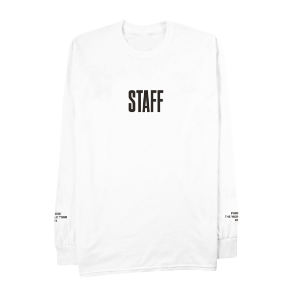 Justin Bieber: Bieber Staff Japan Longsleeve Shirt