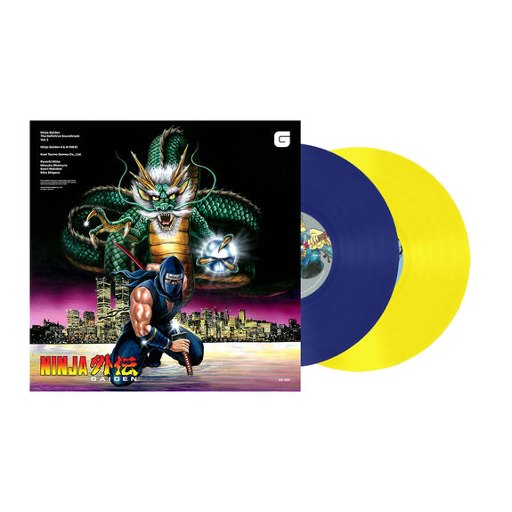 Various Artists: Ninja Gaiden: The Definitive Soundtrack Volume 2 Limited Edition Blue & Yellow Coloured Vinyl LP