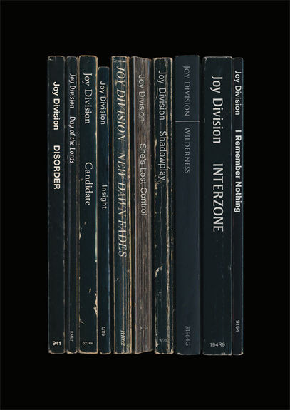 Joy Division: 'Unknown Pleasures' Album As Books Art Print
