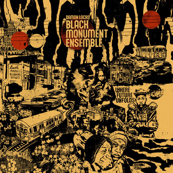 Damon Locks: Black Monument Ensemble: Limited Edition Crimson + Black Vinyl LP