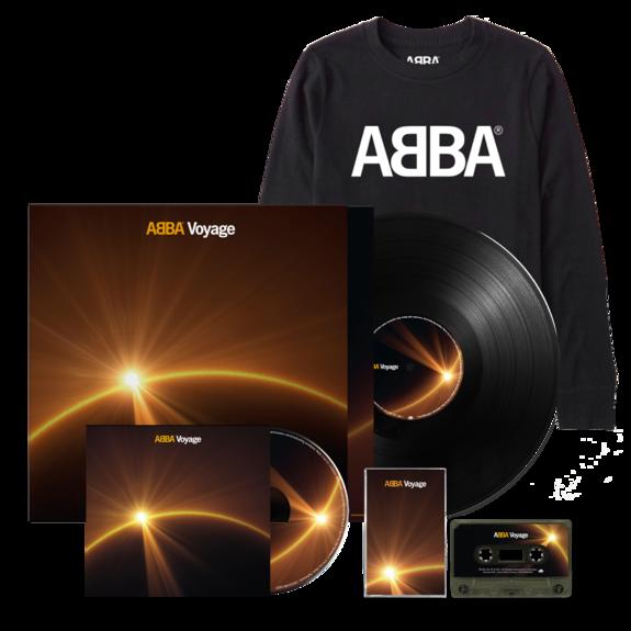 Abba: Voyage (CD, Vinyl, Cassette & Logo Longsleeve Bundle)
