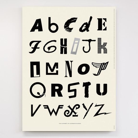 Dorothy: Alphabet of Alternative Music Screen Print Poster