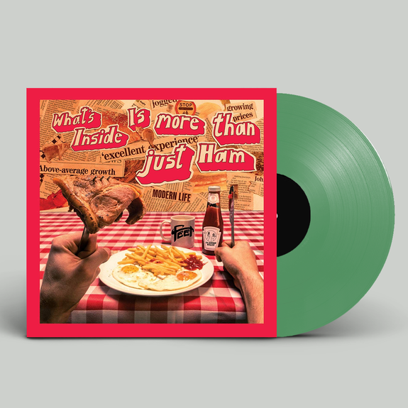 FEET: What's Inside is More Than Just Ham: Signed Limited Edition Translucent Green Vinyl