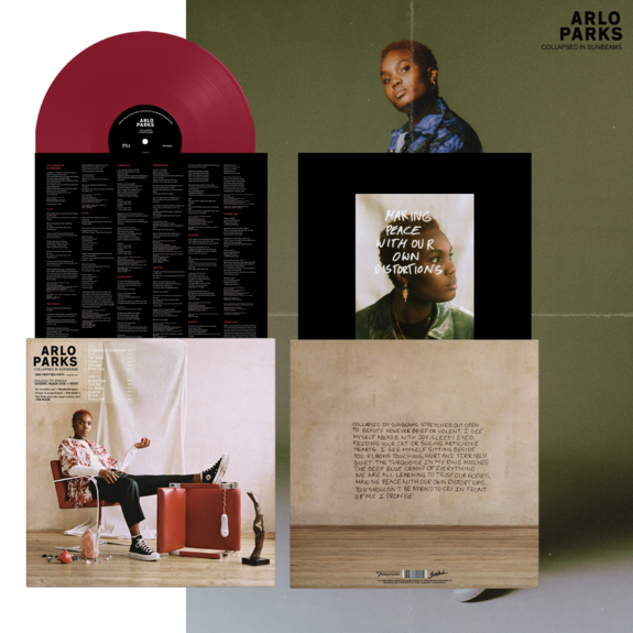 Arlo Parks: Collapsed In Sunbeams: Signed 180gm Deep Red Vinyl + Limited Cassette
