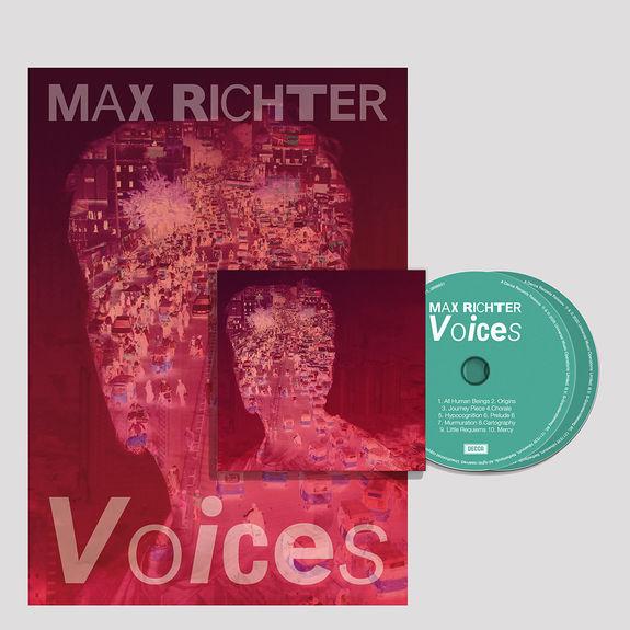 Max Richter: Signed Voices CD & Art Print Bundle