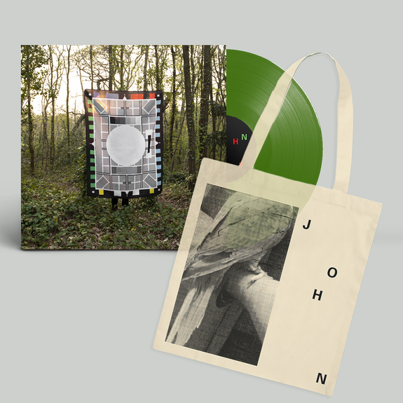 JOHN: Out Here On The Fringes: Signed Fern Green Vinyl + Tote Bundle