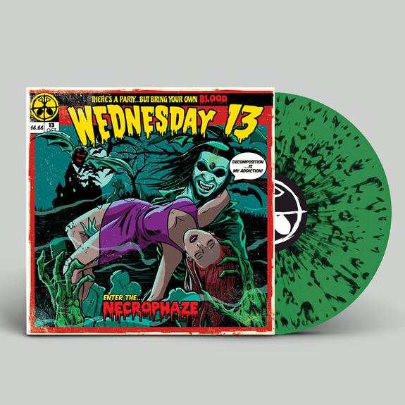 Wednesday 13: Necrophaze: Limited Edition Gatefold Green + Black Splatter Vinyl