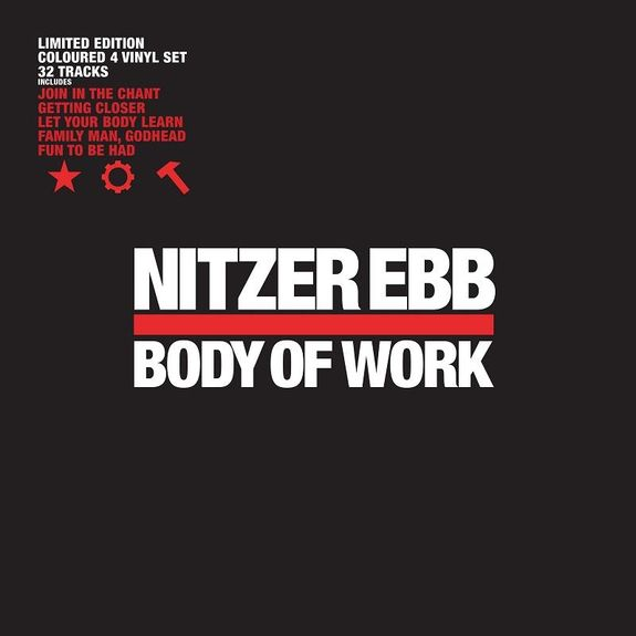 Nitzer Ebb: Body Of Work: Limited Edition Red & White Vinyl