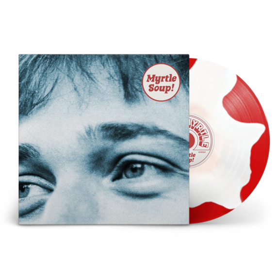 John Myrtle: Myrtle Soup: Signed Recordstore Exclusive Red + White Splodge Vinyl LP + A5 Lyric Booklet