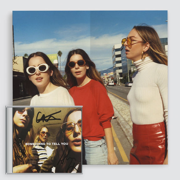 Haim: Something To Tell You Signed CD & Print Bundle