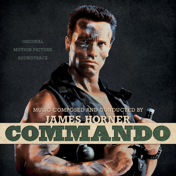 James Horner: Commando: Original Soundtrack: Bone with Black Face Paint Splatter