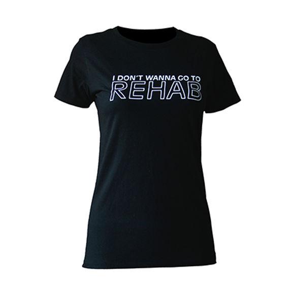 Amy Winehouse: Rehab Ladies Skinny Fit T-Shirt