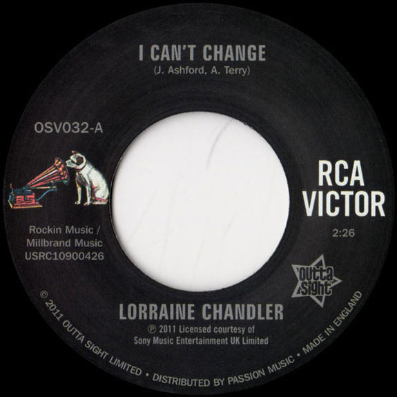 Lorraine Chandler: I Can't Change / You Only Live Twice