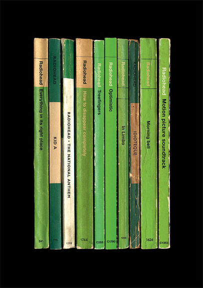 Radiohead: 'Kid A' Album As Books Art Print