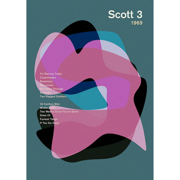 Scott Walker: 'Scott 3' Album Art Literary Print