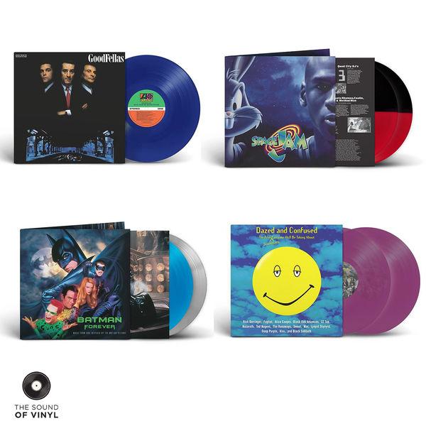Original Soundtrack: The Sound Of... Batman Forever, Space Jam, Goodfellas + Dazed & Confused Limited Edition 4 Album Colour Vinyl Bundle