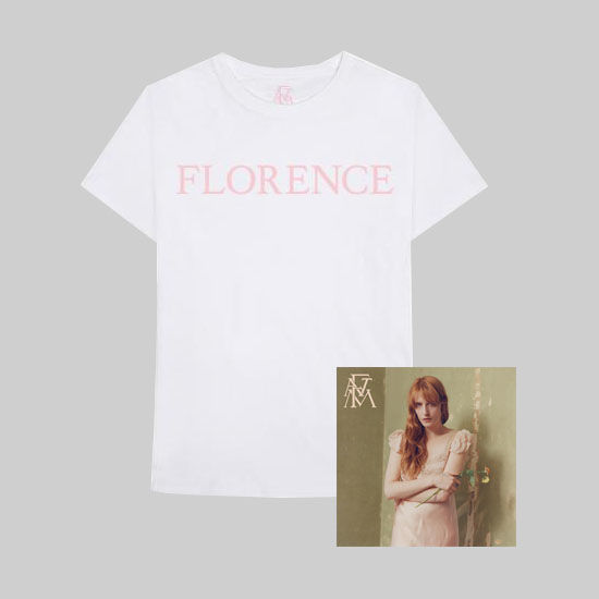 Florence + The Machine: Florence Pink T-Shirt + LP Bundle