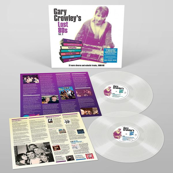 Various Artists: Gary Crowley - Lost 80s 2: Limited Edition Clear Vinyl 2LP