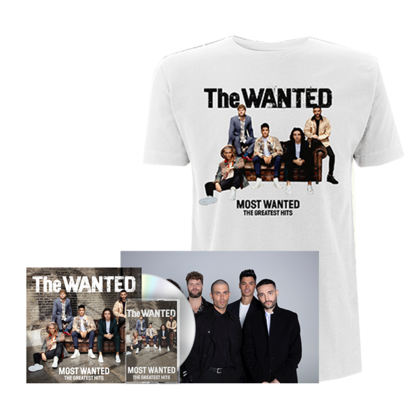 The Wanted: MOST WANTED: ALL INCLUSIVE BUNDLE, INCLUDING COVER TEE (WHITE) + FANIFIED POSTER