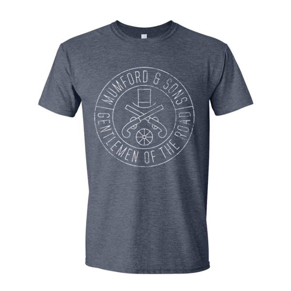 Mumford & Sons : Gun Seal T-Shirt (Heather Navy White Print)