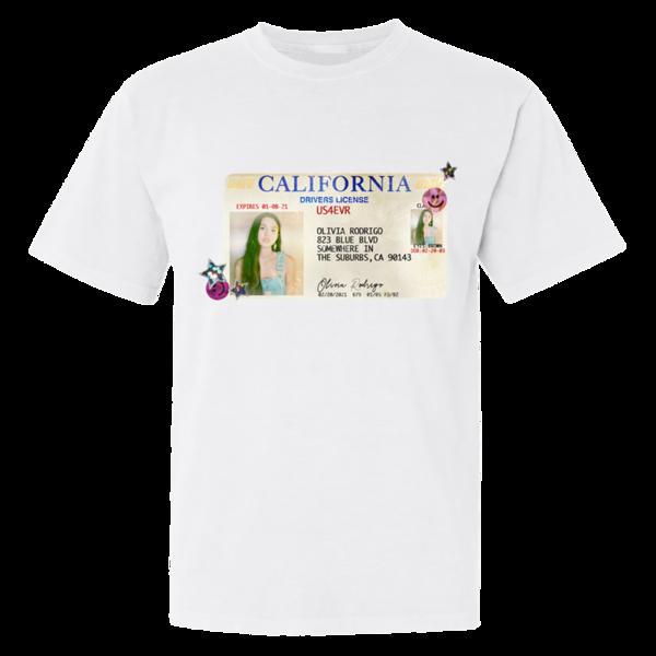 Olivia Rodrigo: Drivers Licence White T-Shirt